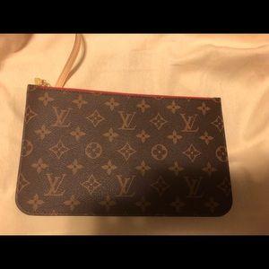 Authentic Louis Vuitton mm zippered clutch